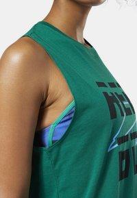 Reebok - MEET YOU THERE REEBOK MUSCLE TANK TOP - Sports shirt - clover green - 3