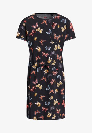 MET VLINDERDESSIN - Day dress - black