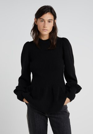 PERCY PEPLUM - Sweter - black