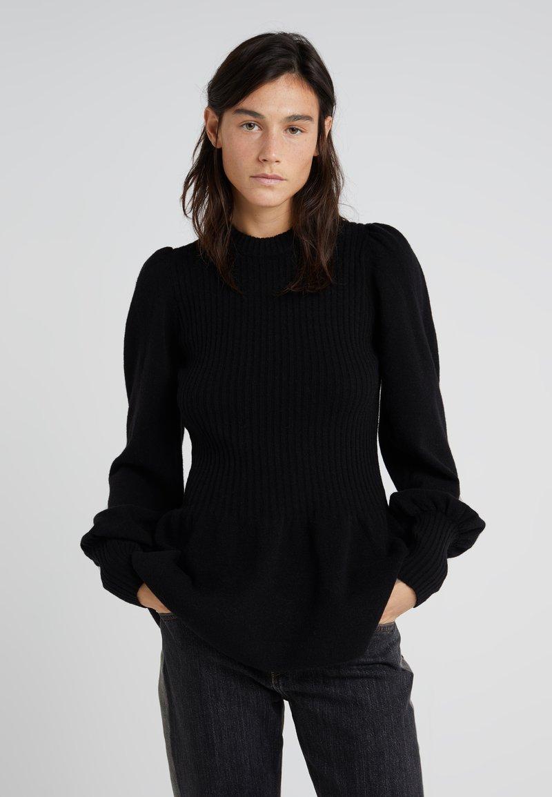 DESIGNERS REMIX - PERCY PEPLUM - Pullover - black