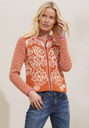 DIANA - Strikjakke /Cardigans - tangerine orange