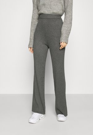 YASGIA PANTS - Trousers - dark grey melange