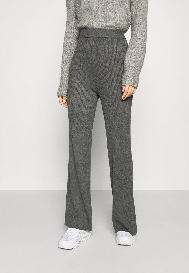 YASGIA PANTS - Trousers - dark grey melange
