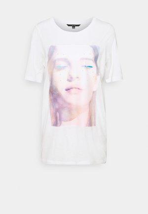VMNOGA LONG - T-shirt print - snow white