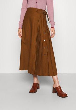SKIRT - A-line skirt - brown