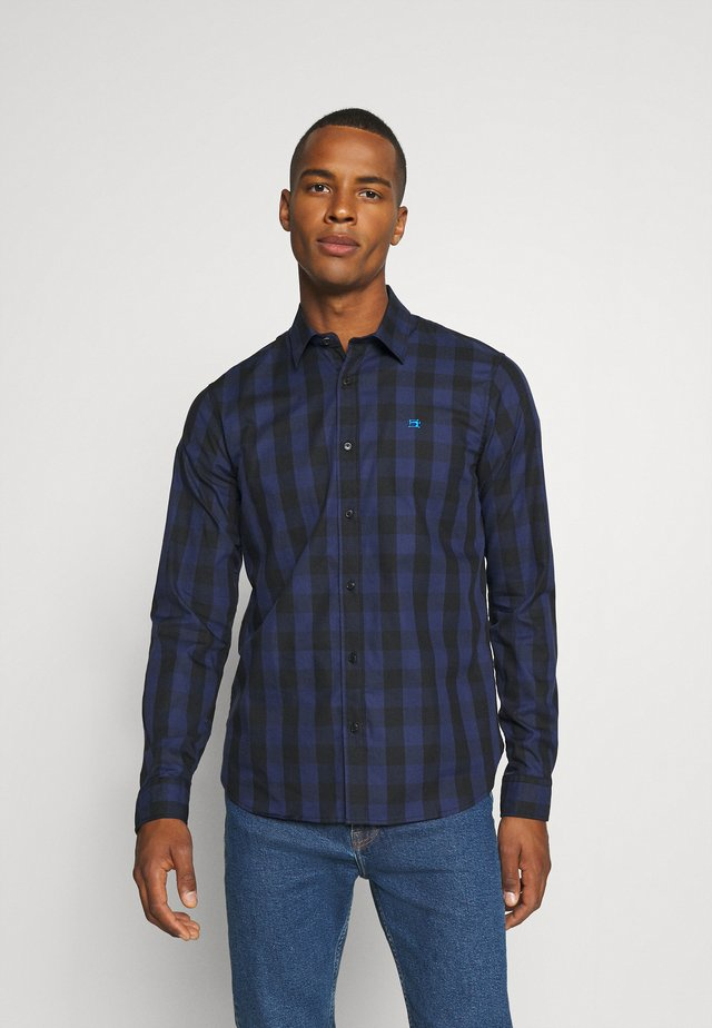 REGULAR FIT- CLASSIC CHECK  - Camisa - dark blue/black