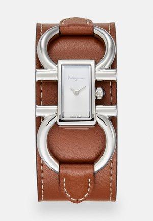 DOUBLE GANCINI STRAP - Watch - brown
