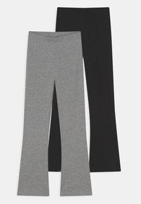 Name it - NKFVIVI 2 PACK - Leggings - Trousers - grey melange - 0