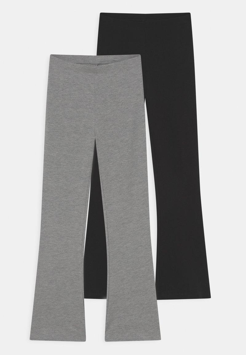 Name it - NKFVIVI 2 PACK - Leggings - Trousers - grey melange