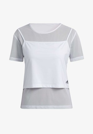 POWER TWO-IN-ONE - T-shirt print - white