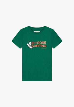 SNOOPY GONE SURFING - Camiseta estampada - vital green