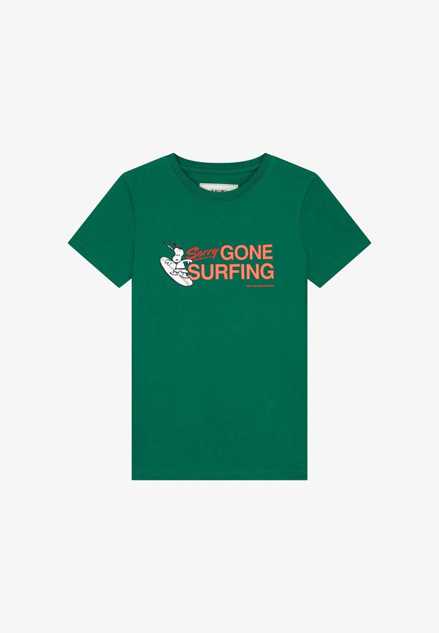 SNOOPY GONE SURFING - T-shirt imprimé - vital green