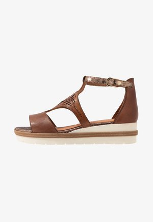 WOMS SANDALS - Plateausandaler - nut