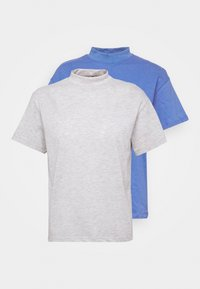Trendyol - 2 PACK - Basic T-shirt - gray - 4