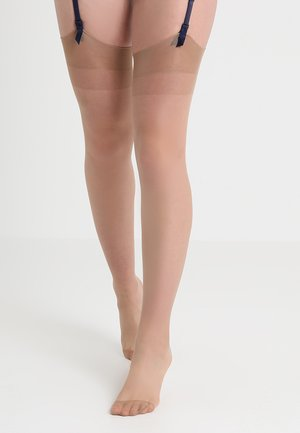 PLAIN LEG PLAIN TOPPED STOCKINGS - Ylipolvensukat - nude