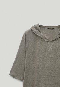 Massimo Dutti - Basic T-shirt - grey - 5