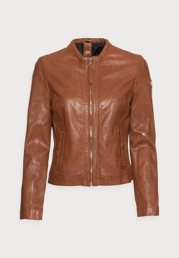 ZAI LASTAV - Leather jacket - cognac