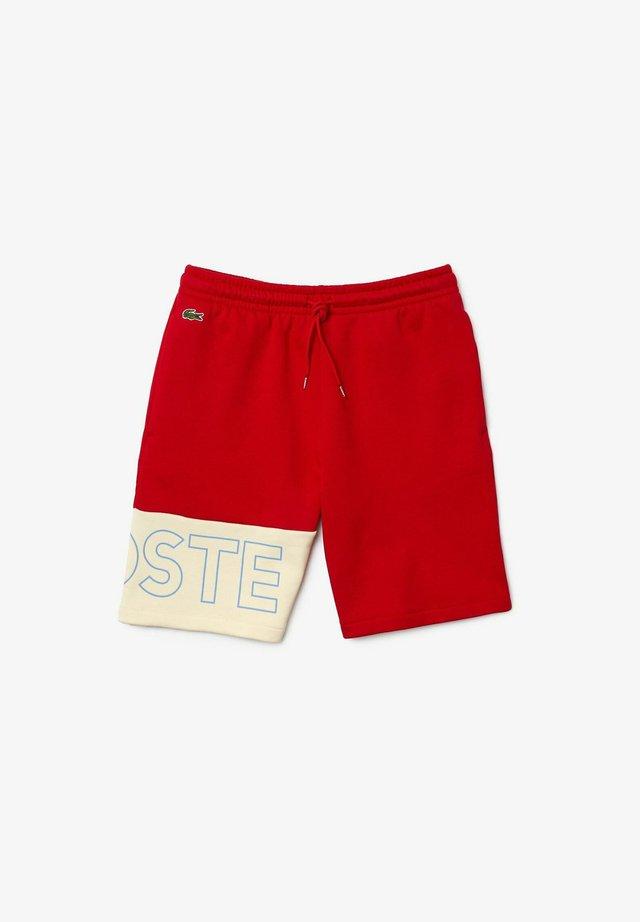 GH0521 - Short de sport - rouge / beige