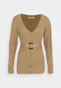 Glamorous Petite - BELTED CARDIGAN - Cardigan - light brown - 0