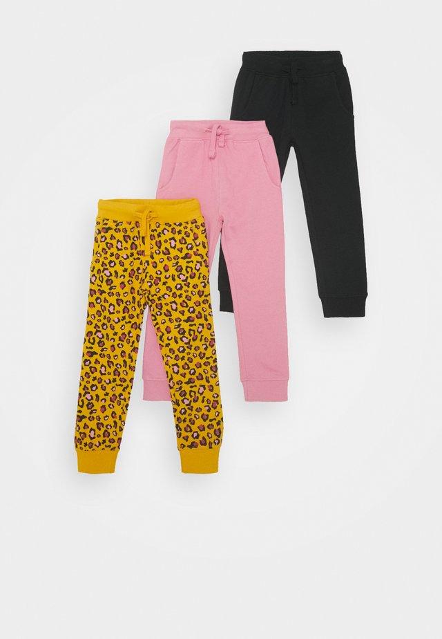 3 PACK - Pantalon de survêtement - black/pink