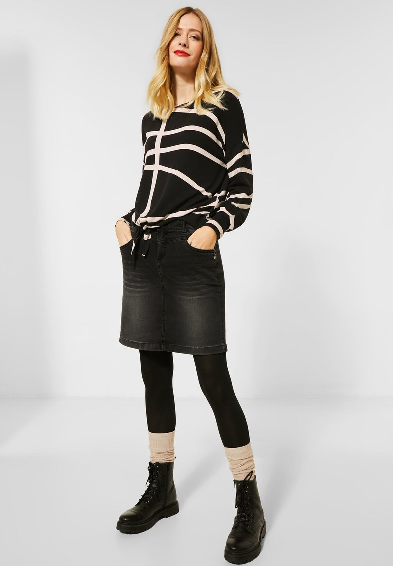 Street One - Long sleeved top - schwarz