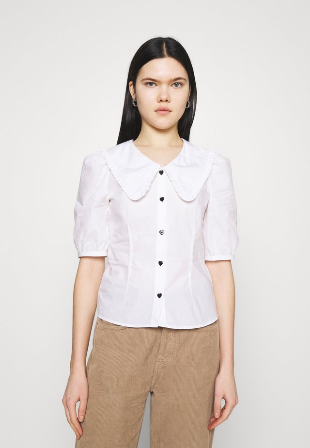 SANDRA BLOUSE - Button-down blouse - white