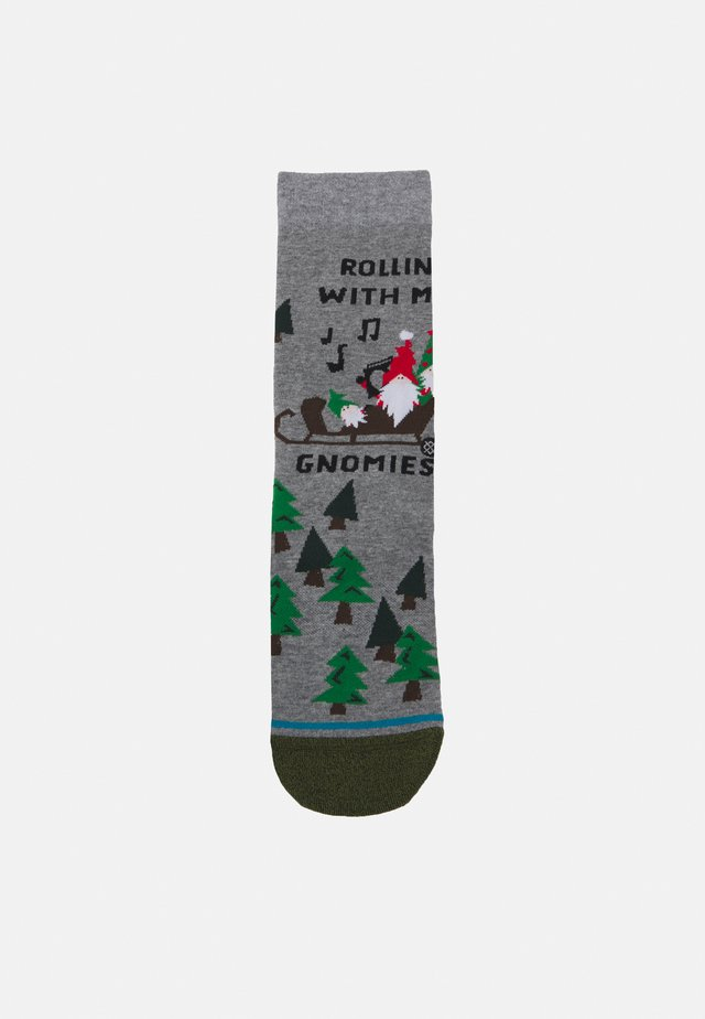 ROLLIN WITH MY GNOMIES - Socks - heather grey