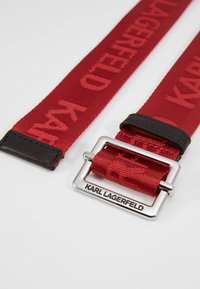 KARL LAGERFELD - LOGO BELT - Riem - red - 3