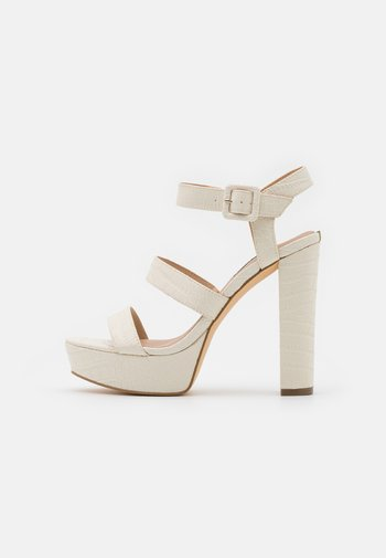 RAYONA - Platform sandals - cream