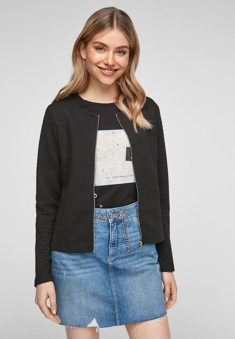 QS by s.Oliver - Cardigan - black