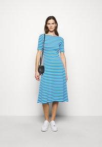 Lauren Ralph Lauren - Jersey dress - captain blue/white - 1