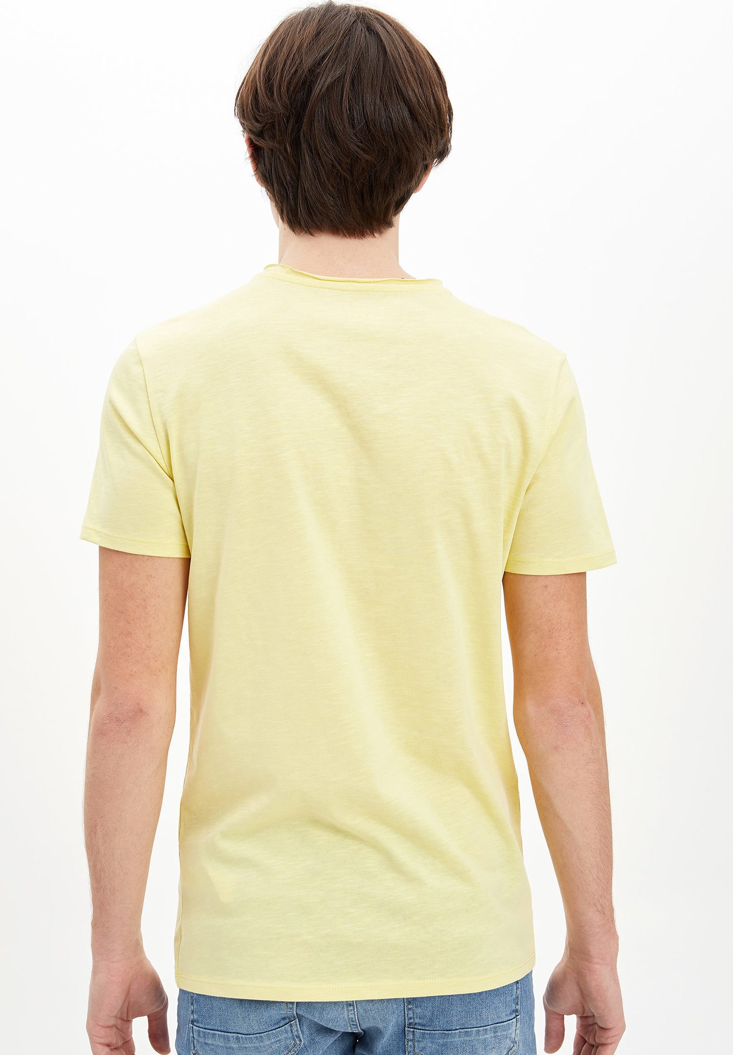 DeFacto Basic T-shirt - yellow sINTX