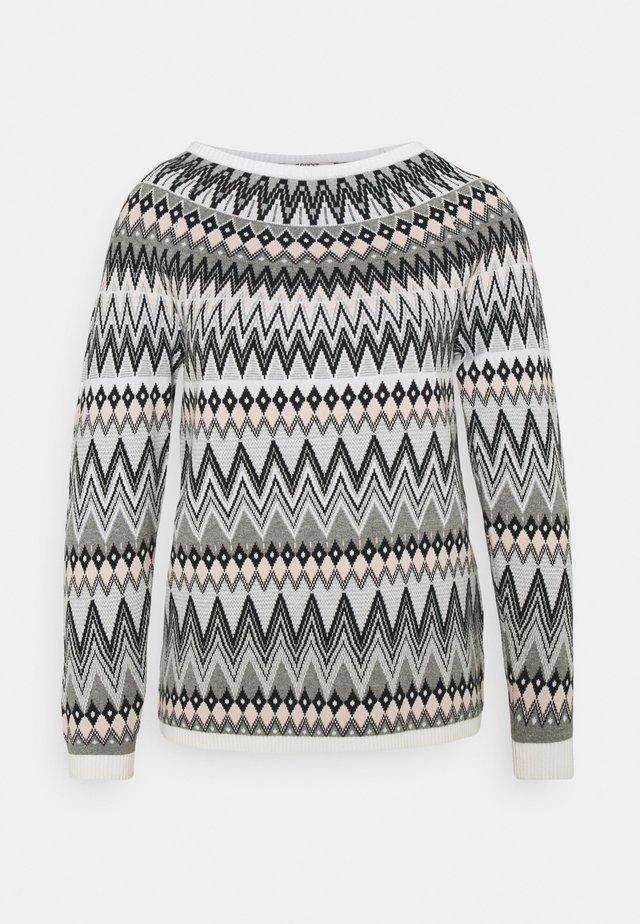 Stickad tröja - dark grey