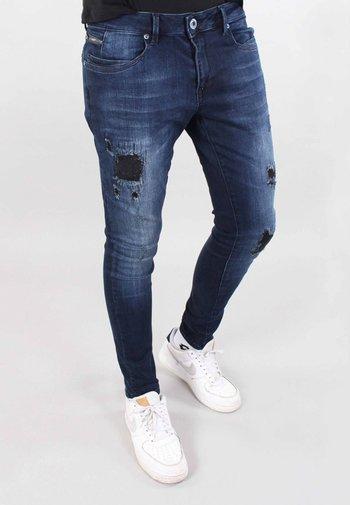 ULTIMO - Jeans Skinny Fit - blue destroyed