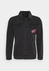 Santa Cruz - UNISEX VINTAGE BONE HAND JACKET - Denim jacket - black - 0