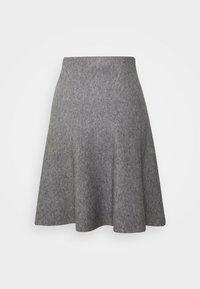 TOM TAILOR DENIM - SKATER SKIRT - Mini skirt - light silver grey mélange - 1