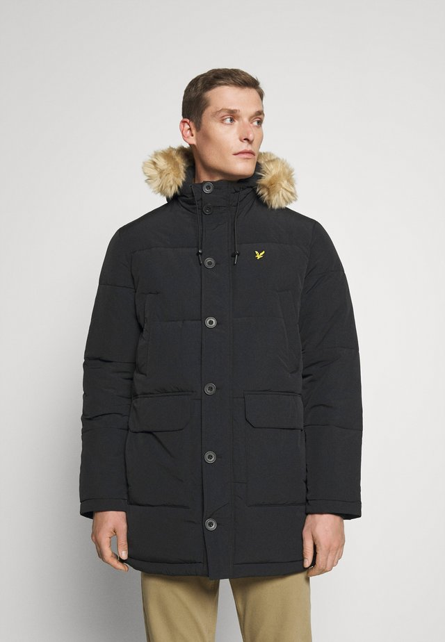 HEAVYWEIGHT LONGLINE PUFFER JACKET - Cappotto invernale - jet black