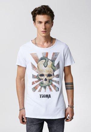 SNAKE SKULL WREN - Print T-shirt - white