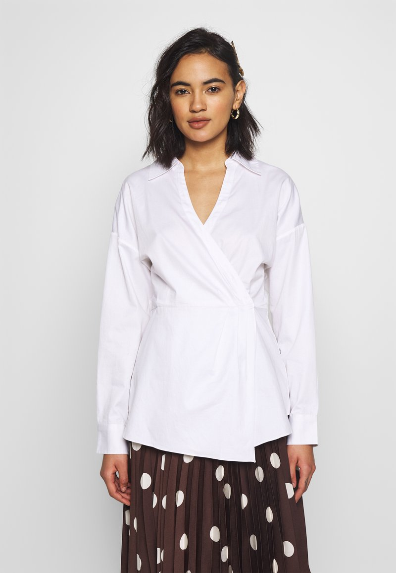 Who What Wear - THE WRAP BLOUSE - Blouse - white
