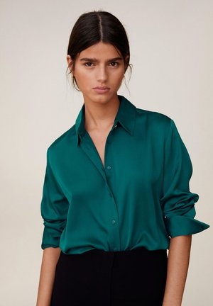 SATINI - Button-down blouse - groen
