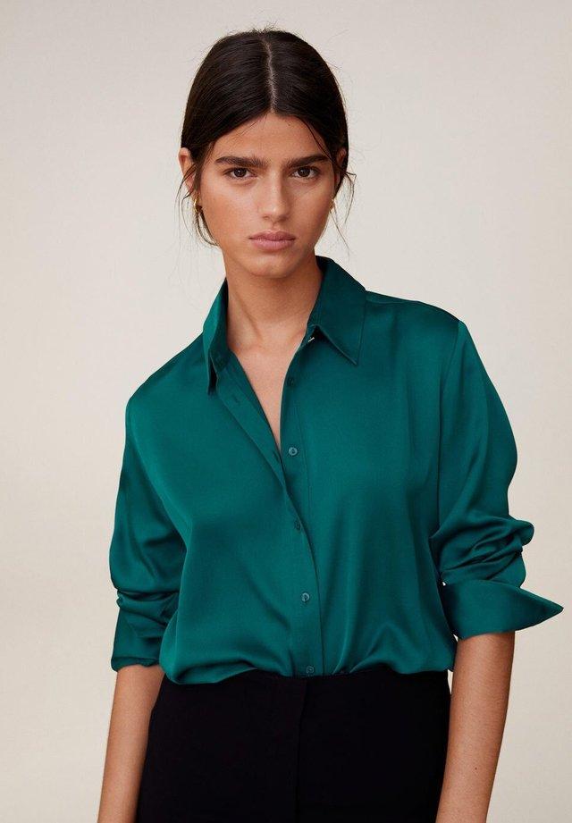 SATINI - Skjortebluser - groen