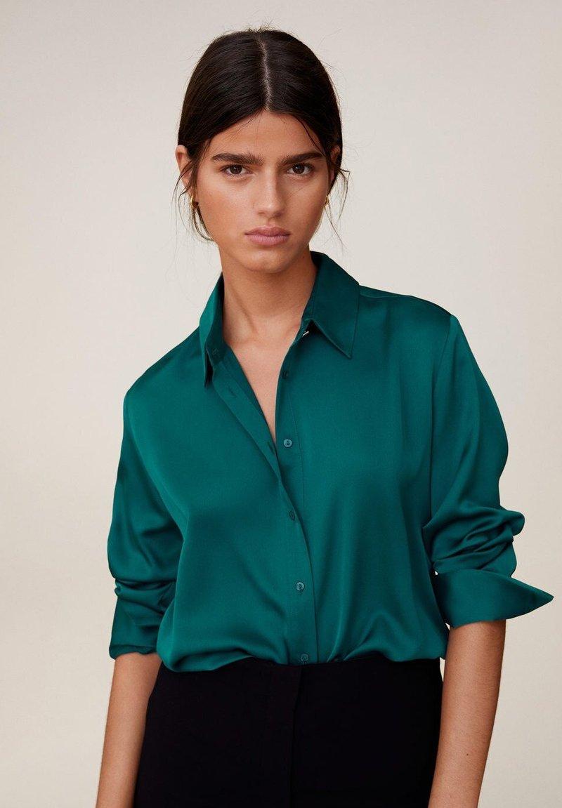 Mango - SATINI - Camicia - groen