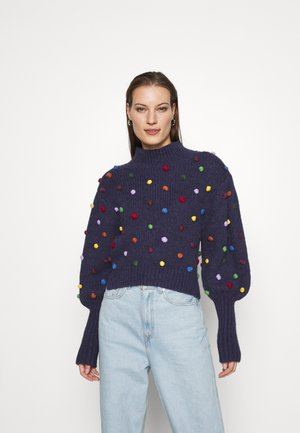 COLORFUL DOTS  - Maglione - navy