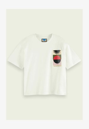 BOXY FIT ARTWORK  - Print T-shirt - off white