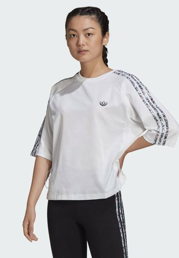 BOXY T-SHIRT - Long sleeved top - white