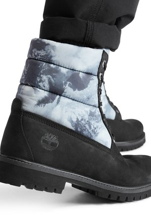 PREMIUM PUFFER - Bottines à lacets - pure black
