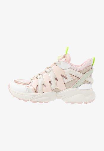 HERO TRAINER - Höga sneakers - cream/multicolor
