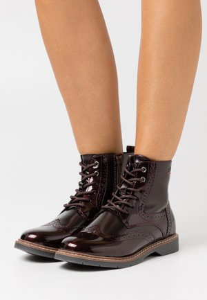 BOOTS - Lace-up ankle boots - bordeaux