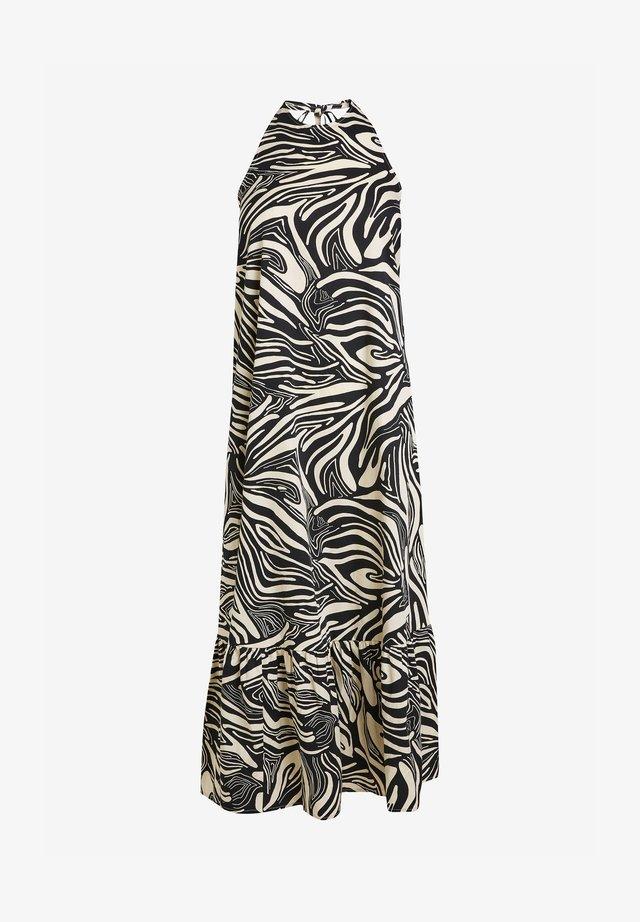HALTER - Maxi šaty - black/white