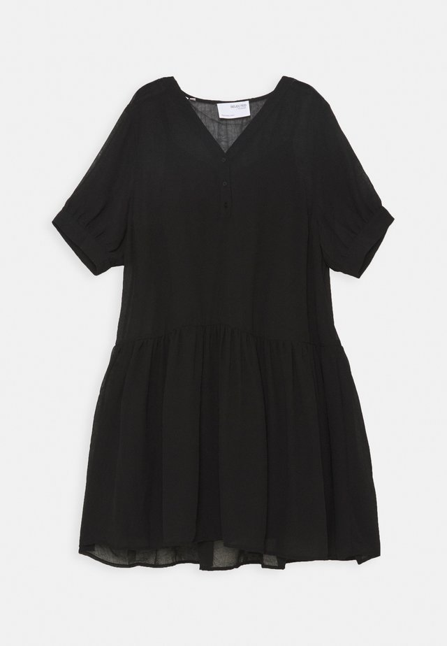 SLFABI SHORT DRESS - Kjole - black